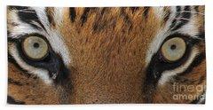 Malayan Tiger Eyes Beach Towel