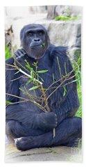 Male Ape Beach Sheet by Jim Fitzpatrick