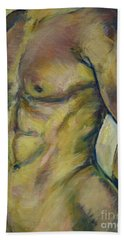 Nude Male Torso Beach Towel