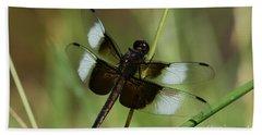 Male Widow Skimmer Dragonfly Beach Towel