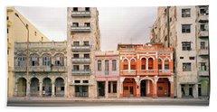 Malecon In Havana Beach Towel by Shaun Higson