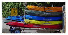 Malibu Kayaks Beach Towel by Gandz Photography