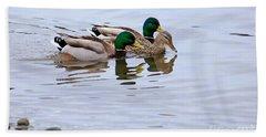 Mallard Ducks Beach Towel