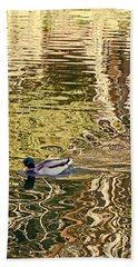 Mallard Painting Beach Towel by Kate Brown