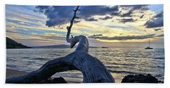Maluaka Beach Sunset Beach Towel