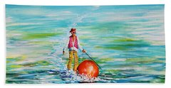 Strolling On The Water Beach Towel