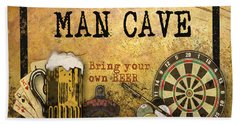 Man Cave-bring Your Own Beer Beach Towel