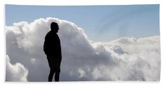 Man In The Clouds Beach Towel