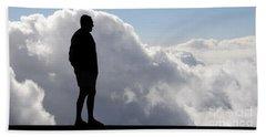 Man In The Clouds Beach Sheet