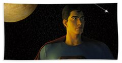 Man Of Steel Beach Towel
