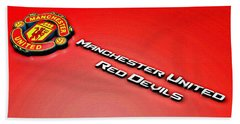 Man United Red Devils Poster Beach Towel