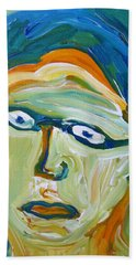 Man With Glasses Beach Towel