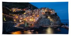 Beach Sheet featuring the photograph Manarola by Mihai Andritoiu