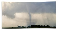 Manchester Tornado 1 Of 6 Beach Sheet by Jason Politte