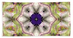 Mandala 127 Beach Sheet by Terry Reynoldson