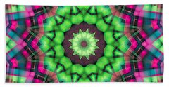 Mandala 29 Beach Sheet by Terry Reynoldson