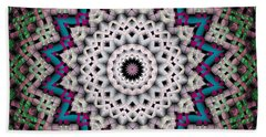 Mandala 37 Beach Sheet by Terry Reynoldson