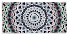 Mandala 40 Beach Sheet by Terry Reynoldson