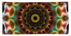 Mandala 74 Beach Sheet by Terry Reynoldson