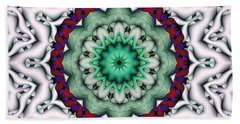 Mandala 8 Beach Sheet by Terry Reynoldson