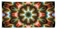 Mandala 80 Beach Sheet by Terry Reynoldson