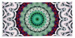Mandala 9 Beach Sheet by Terry Reynoldson
