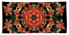 Mandala Daylily Beach Sheet
