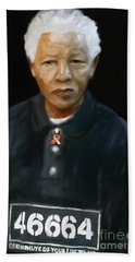 Beach Towel featuring the digital art Mandela by Vannetta Ferguson