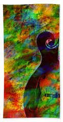 Mandolin Magic Beach Towel by Ally  White