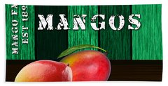 Mango Farm Sign Beach Towel