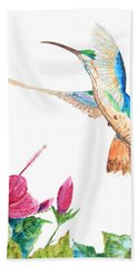 Mango Hummingbird Beach Towel