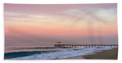 Beach Towel featuring the photograph Manhattan Beach Sunrise by Art Block Collections