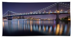 Manhattan Reflections  Beach Towel