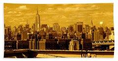 Manhattan Skyline Beach Sheet