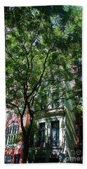 Beach Towel featuring the photograph Manhattan Upper East Side Late Summer by Andy Prendy