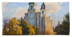 Manti Temple Beach Towel