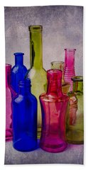 Many Colorful Bottles Beach Towel