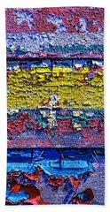 Many Colors Paint Peeling Beach Towel