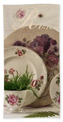 Beach Towel featuring the photograph Many Rose Designs Still Life  by Sandra Foster
