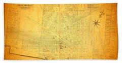 Map Of Detroit Michigan C 1835 Beach Towel