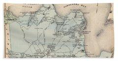 Map Of East Hampton 1873 Beach Sheet