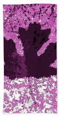 Maple Leaf Purple Pop Poster Hues  Beach Sheet