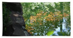 Maple Reflections Beach Towel by Sharon Elliott