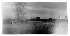 Beach Towel featuring the photograph Maple Ridge Rd Farm by Daniel Thompson