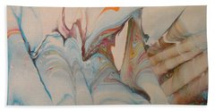 Beach Towel featuring the painting Marble 24 by Mike Breau