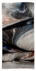 Beach Sheet featuring the painting Marble 4 by Mike Breau