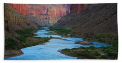 Marble Canyon Rafters Beach Sheet by Inge Johnsson