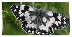 Marbled White Beach Towel