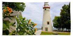Beach Sheet featuring the photograph Marblehead Lighthouse by The Art of Alice Terrill
