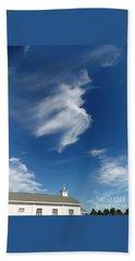 Angel Above Old Church Beach Towel